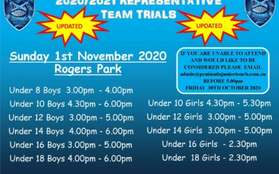 2020/2021 REPRESENTATIVE TEAM TRIALS